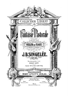 Pastoral Fantasia, Op.56: para violino by Jean Baptiste Singelée