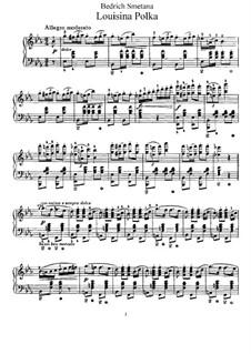 Louisina Polka, T.4: Para Piano by Bedřich Smetana
