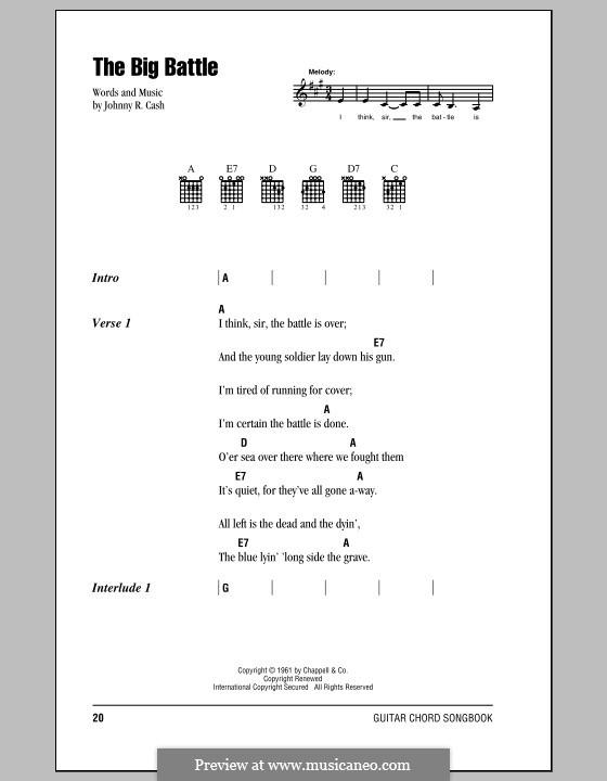 The Big Battle: Letras e Acordes (com caixa de acordes) by Johnny Cash
