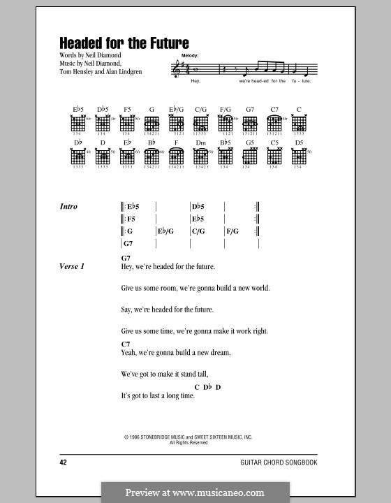 Headed for the Future: Letras e Acordes (com caixa de acordes) by Alan Lindgren, Tom Hensley