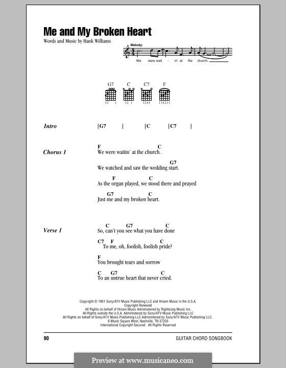 Me and My Broken Heart: Letras e Acordes (com caixa de acordes) by Hank Williams