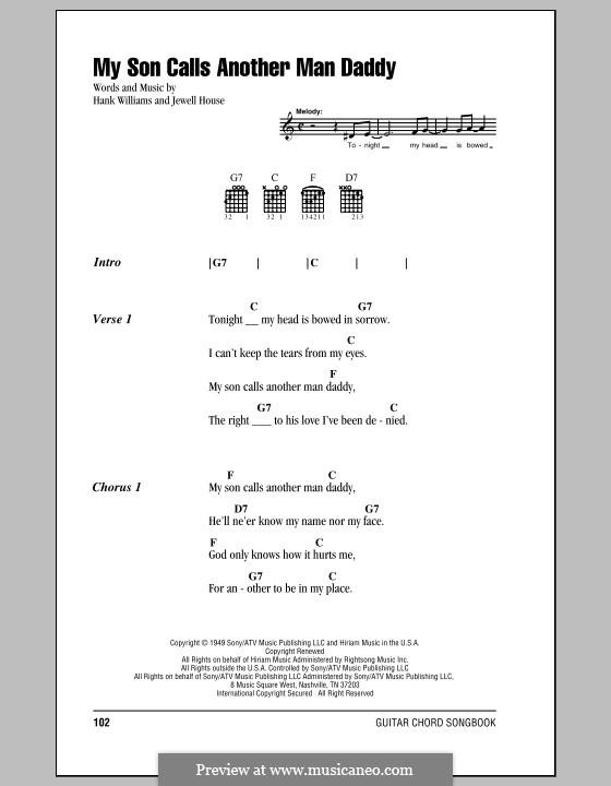 My Son Calls Another Man Daddy: Letras e Acordes (com caixa de acordes) by Jewell House