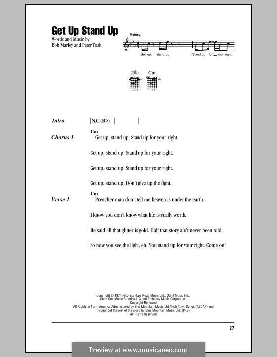 Get Up Stand Up: Letras e Acordes (com caixa de acordes) by Bob Marley, Peter Tosh