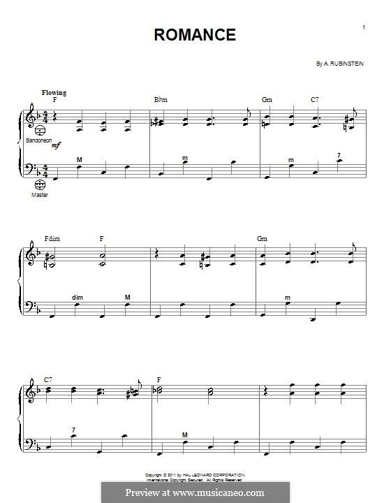 Romance in E Flat Major: para acordeão by Anton Rubinstein