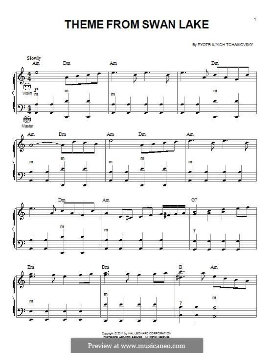 No.14 Scène: Arrangement for accordion (Theme) by Pyotr Tchaikovsky