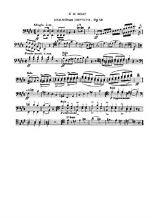Jubilee Overture, J.245 Op.59: Fragments from bassoon part by Carl Maria von Weber