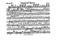 Sound Off. March: partes by John Philip Sousa