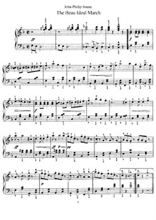 The Beau Ideal March: Para Piano by John Philip Sousa