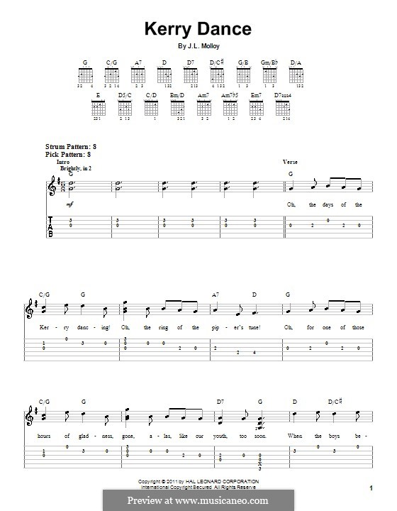 The Kerry Dance: Para Guitarra by James L. Molloy