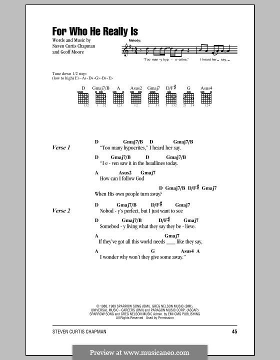 For Who He Really Is: Letras e Acordes (com caixa de acordes) by Geoff Moore