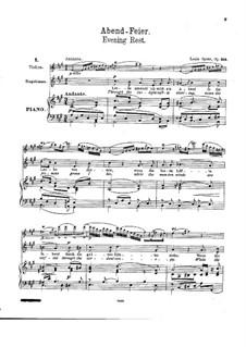 Evening Rest. Six Songs, Op.154: Evening Rest. Six Songs by Louis Spohr