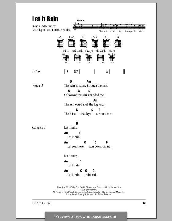 Let It Rain: Letras e Acordes (com caixa de acordes) by Bonnie Bramlett