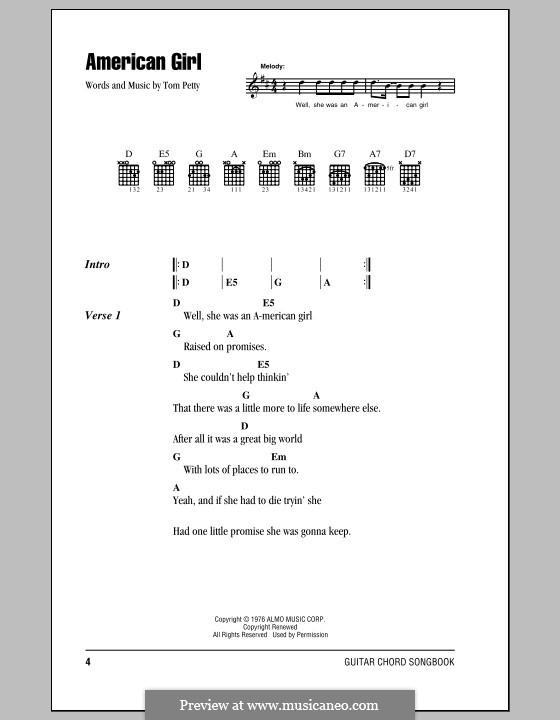 American Girl: Letras e Acordes (com caixa de acordes) by Tom Petty