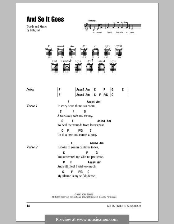 And So It Goes: Letras e Acordes (com caixa de acordes) by Billy Joel