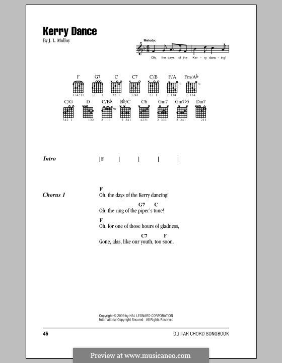 The Kerry Dance: Letras e Acordes by James L. Molloy