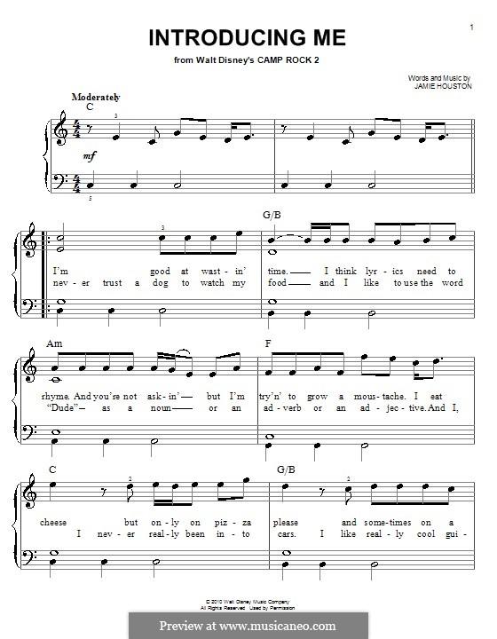 Introducing Me (Nick Jonas): Facil para o piano by Jamie Houston