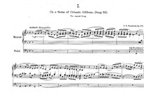 Six Short Preludes and Postludes, Op.105: Six Short Preludes and Postludes by Charles Villiers Stanford