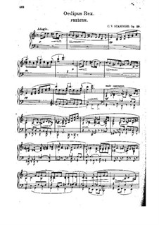 Oedipus Rex, Op.29: Oedipus Rex by Charles Villiers Stanford