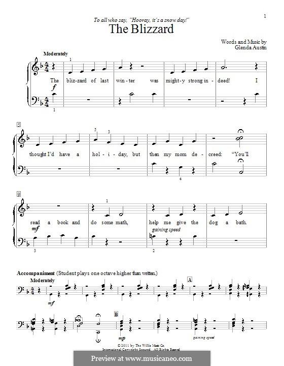The Blizzard: Para Piano by Glenda Austin
