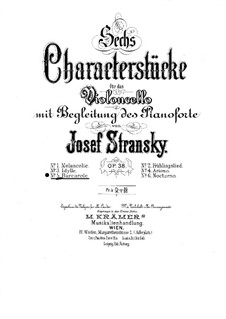 Barcarolle for Cello and Piano, Op.38 No.5: Barcarolle for Cello and Piano by Josef Stransky