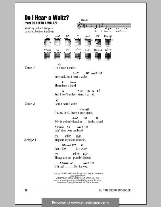 Do I Hear a Waltz?: Letras e Acordes (com caixa de acordes) by Richard Rodgers