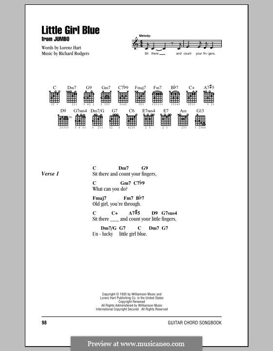 Little Girl Blue: letras e acordes com guia by Richard Rodgers