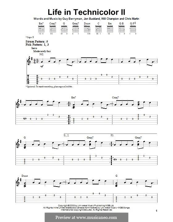 Life in Technicolor II (Coldplay): Para guitarra (versão facil) by Chris Martin, Guy Berryman, Jonny Buckland, Jon Hopkins, Will Champion