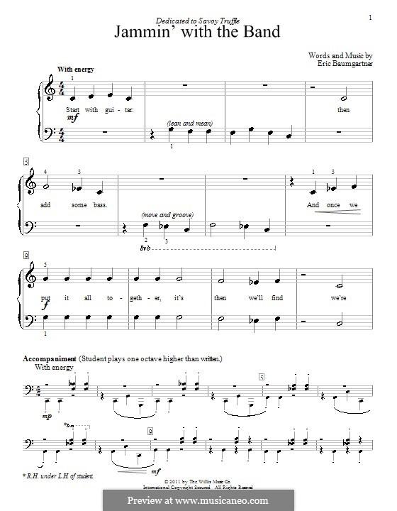 Jammin' with the Band: Para Piano by Eric Baumgartner