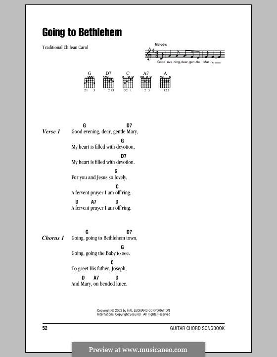 Going to Bethlehem: Letras e Acordes (com caixa de acordes) by folklore