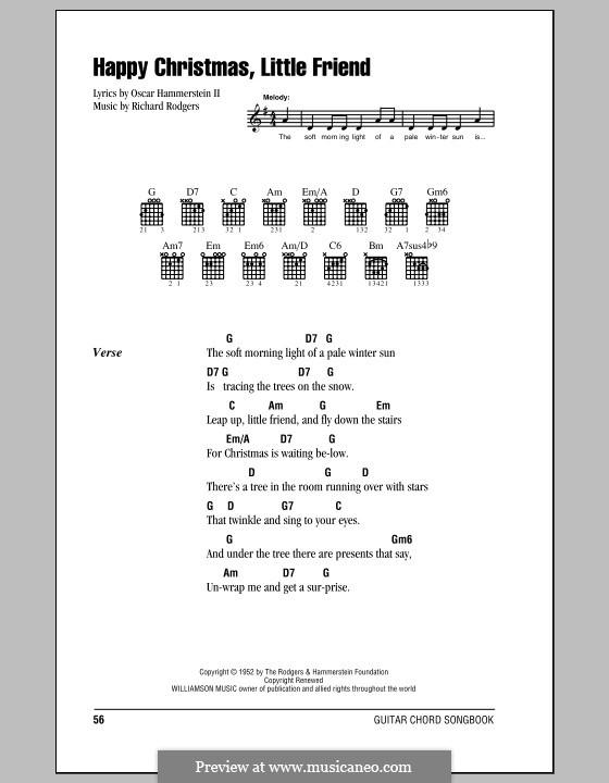Happy Christmas, Little Friend: Letras e Acordes (com caixa de acordes) by Richard Rodgers