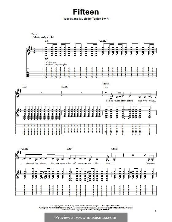 Fifteen: Para guitarra com guia by Taylor Swift