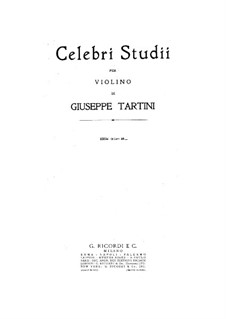 Etudes for Violin: Etudes for Violin by Giuseppe Tartini