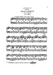 Waltz-Caprice, TH 126 Op.4: valsa- caprice by Pyotr Tchaikovsky