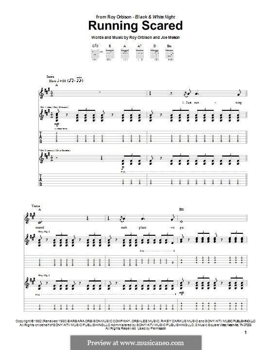 Running Scared: Para guitarra com guia by Joe Melson