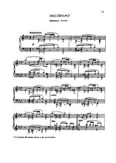 Impromptu. Lyrical Moment, TH 149: Impromptu. Lyrical Moment by Pyotr Tchaikovsky