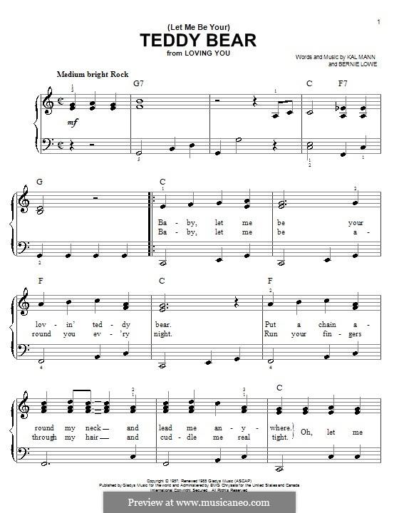 (Let Me Be Your) Teddy Bear (Elvis Presley): Facil para o piano by Bernie Lowe, Kal Mann