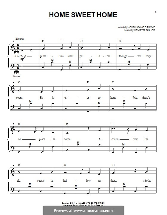 Home, Sweet Home: para acordeão by Henry Bishop