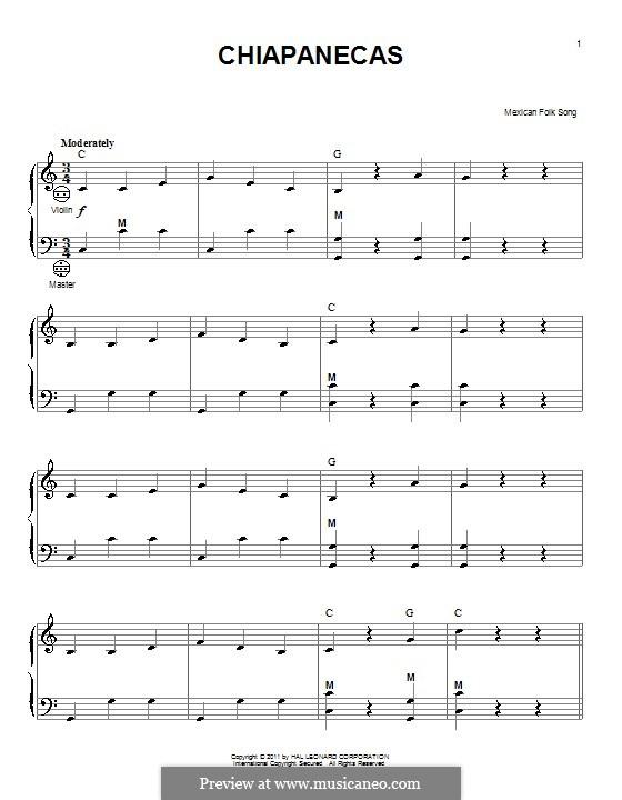 Chiapanecas: para acordeão by folklore