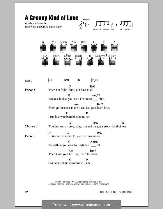 A Groovy Kind of Love (The Mindbenders): Letras e Acordes (com caixa de acordes) by Carole Bayer Sager, Toni Wine