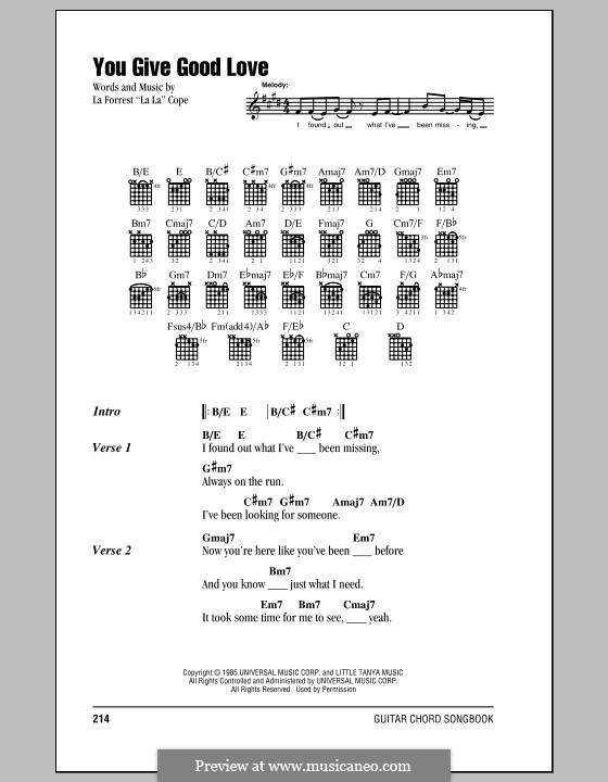 You Give Good Love (Whitney Houston): Letras e Acordes (com caixa de acordes) by La Forrest Cope