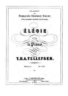Elegy, Op.7: Elegy by Thomas Tellefsen