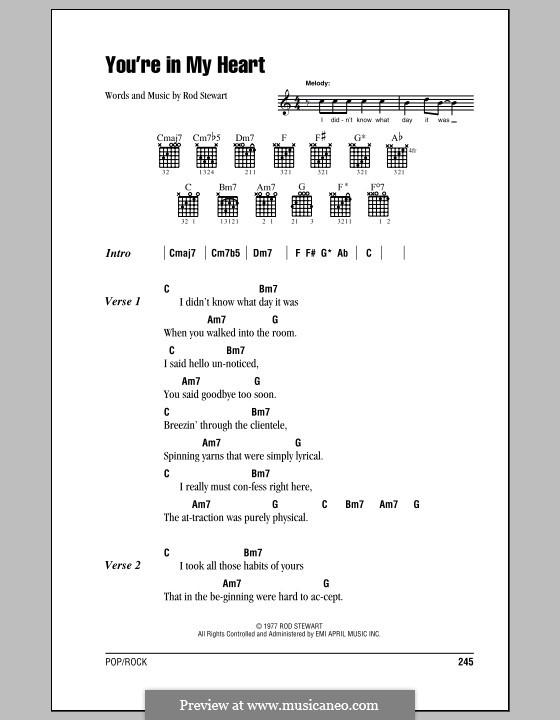 You're in My Heart: Letras e Acordes (com caixa de acordes) by Rod Stewart