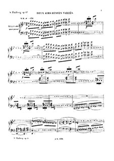 Variations on Two Russian Airs, Op.17: Variations on Two Russian Airs by Sigismond Thalberg