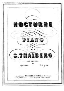 Nocturne in B Major, Op.51bis: Nocturne in B Major by Sigismond Thalberg