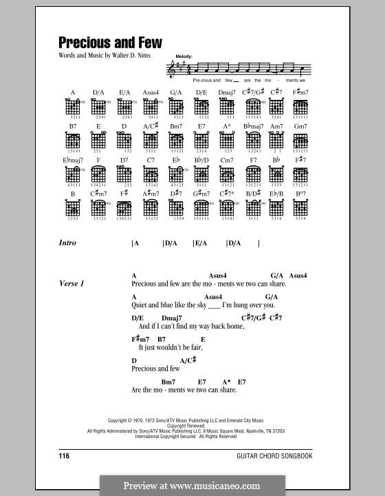 Precious and Few (Climax): Letras e Acordes by Walter D. Nims