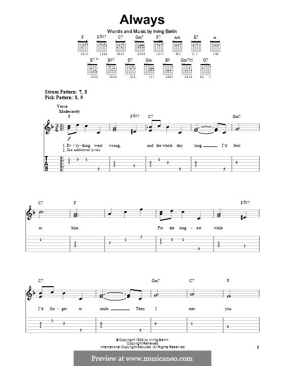Always: Para Guitarra by Irving Berlin