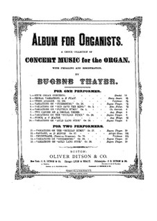Variations on 'Sicilian Hymn': Variations on 'Sicilian Hymn' by Eugene Thayer