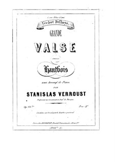 Grand Waltz for Oboe and Piano, Op.66: Grand Waltz for Oboe and Piano by Stanislas Verroust