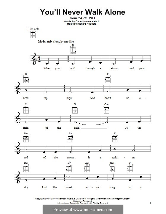 You'll Never Walk Alone (from Carousel): para ukulele by Richard Rodgers