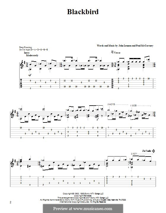 Blackbird (The Beatles): para guitarra com guia by John Lennon, Paul McCartney